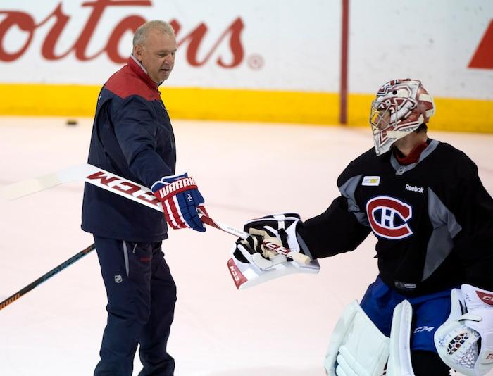 Canadiens à l' entraînement