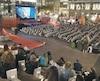 Place d'Youville a accueilli des cinéphiles tous les soirs, pendant le FCVQ, pour revoir des classiques du cinéma populaire.