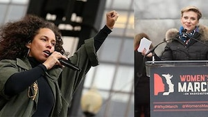 Image principale de l'article Les stars hollywoodiennes au cœur de la Marche des femmes