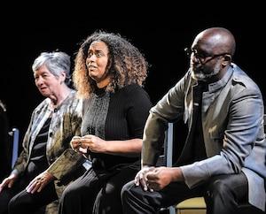 Irène Gonzalez, Flavia Nascimento et Michael Maynard font partie d'un groupe de huit immigrants qui racontent, dans le spectacle Ici, leur intégration auQuébec.