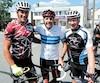 Le Tour de l'Abitibi a réuni trois visages connus de Rimouski, samedi à Val-d'Or: Guillaume Belzile (à gauche), champion en 1994, a retrouvé son père Jacques (à droite), qui avait contribué à la victoire en 1975 de Pierre Harvey, président d'honneur de la 50<sup>e</sup> édition.