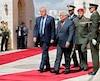Le président américain Donald Trump et le président palestinien Mahmoud Abbas.