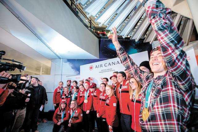 Plusieurs athlètes olympiques du Québec sont arrivés à l'aéroport Trudeau hier en provenance de Pyeongchang.