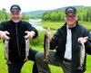 Yvan Nolin (à gauche) et Michel Morency vont se souvenir longtemps de leur aventure de pêche au secteur Wessonneau de la réserve faunique du Saint-Maurice.