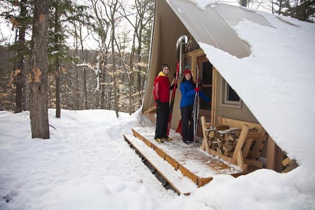 Un des refuges du Parc de la Gatineau, en Outaouais.