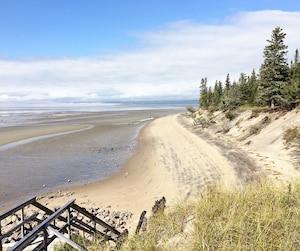On vient au Parc Nature de Pointe-aux-Outardes pour profiter des beautés naturelles de l'endroit.