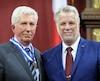 L'ancien chef du Bloc québécois, Gilles Duceppe, a fait une rare visite à l'Assemblée nationale pour recevoir sa médaille d'Officier.