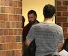 Marc-André Paquin attendait de recevoir sa sentence, après avoir plaidé coupable à une accusation de voie de fait graves.