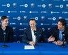 Conférence de presse du club de soccer l'Impact de Montréal, lors de laquelle le club et son président Joey Saputo dévoileront les deux premiers anciens joueurs du club à être intronisés au Mur de la renommée, Gabriel Gervais et Nevio Pizzolitto,