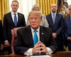 US President Donald Trump signs the Space Policy Directive-4