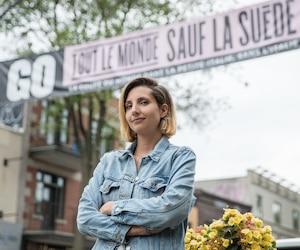 La directrice générale de la Société de développement commercial de la Petite-Italie et du Marché Jean-Talon, Cristina D'Arienzo
