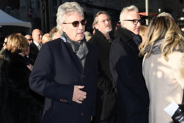 Claude Meunier lors de l'entrée des invités aux funérailles de René Angelil, célébrées ce vendredi après-midi 22 janvier 2016, à la Basilique Notre-Dame, à Montréal.