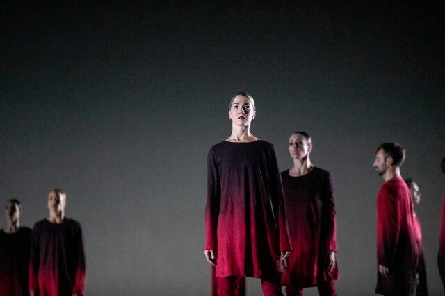 Répétition générale de la pièce Carmina Burana par les Grands Ballets Canadiens. À la place des Arts le 2 Octobre 2019. Première partie, Stabat Mater  Sur cette photo: Carmina Burana DOMINICK GRAVEL / AGENCE QMI