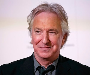 File photograph of actor Alan Rickman at a charity event in London