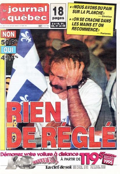 Le deuxième non - Mardi 31 octobre 1995