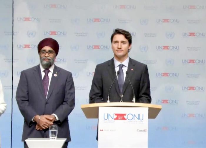 Justin Trudeau assistait à la rencontre des ministres de la Défense à Vancouver en début de semaine.