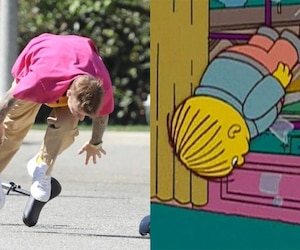 Image principale de l'article Justin Bieber se plante solide en unicycle
