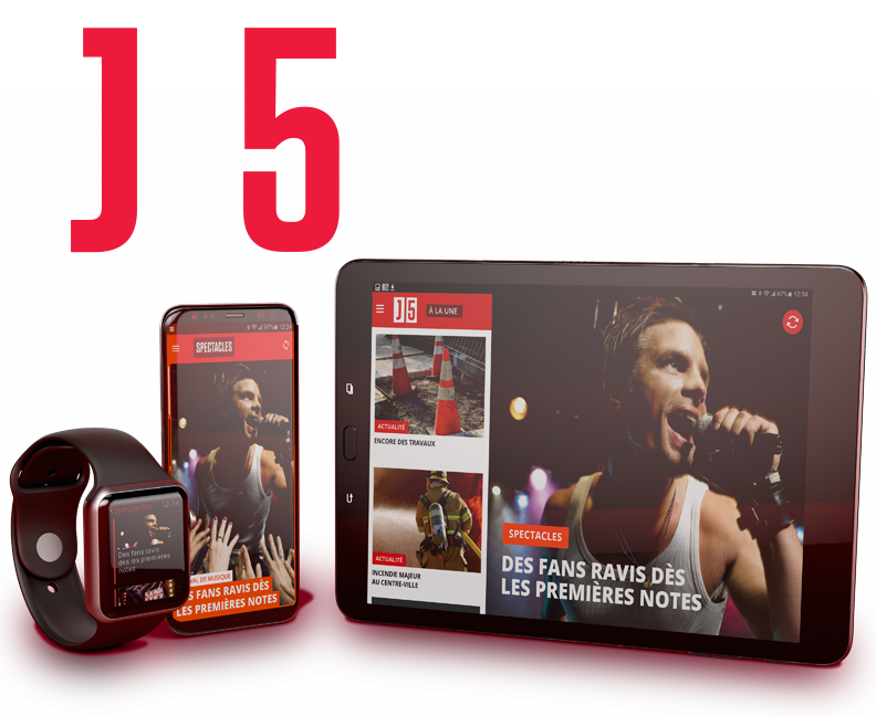 J5, maintenant disponible sur tablette