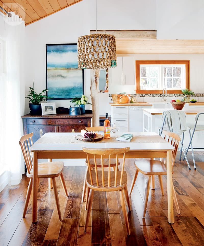 Designer Dan Vickery transforms a small cabin into a dreamy vacation home