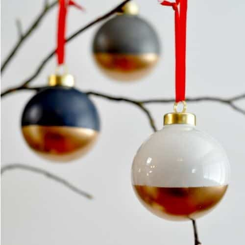 gold dipped ornaments