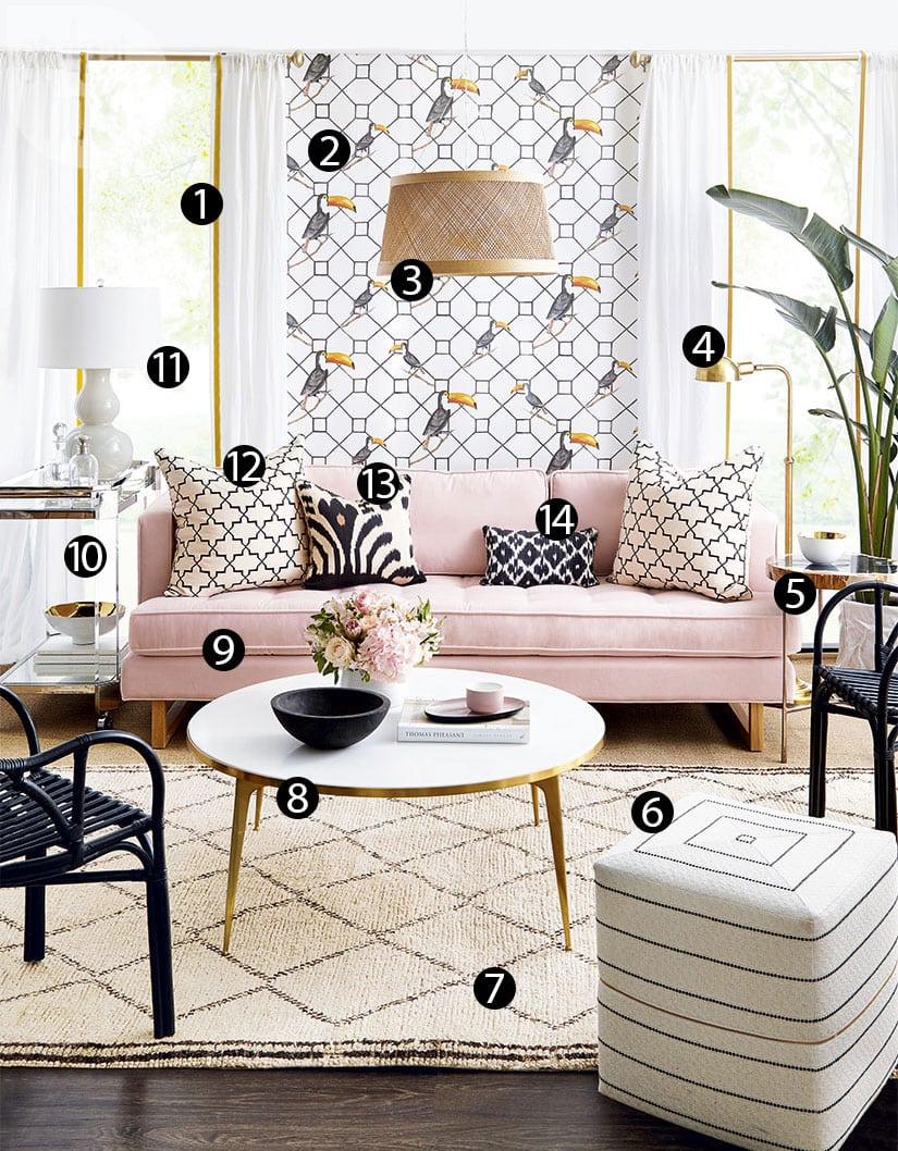High Low Boho Glam Living Room Style At Home