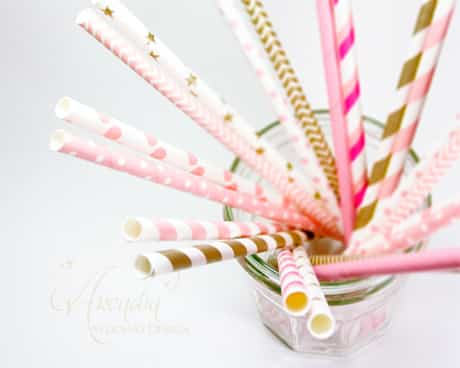 bridal-shower-decor-colourful-straws