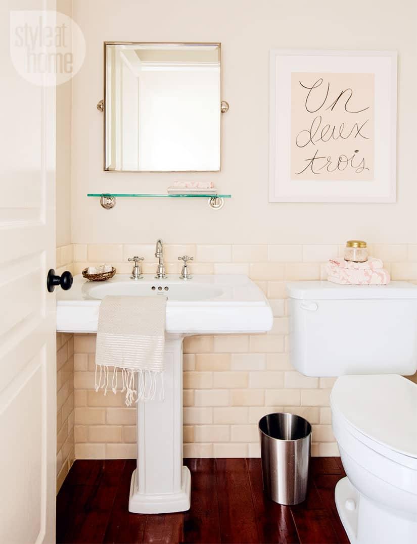 Bathroom Decor Pretty Peach Powder, Peach And Grey Bathroom Accessories