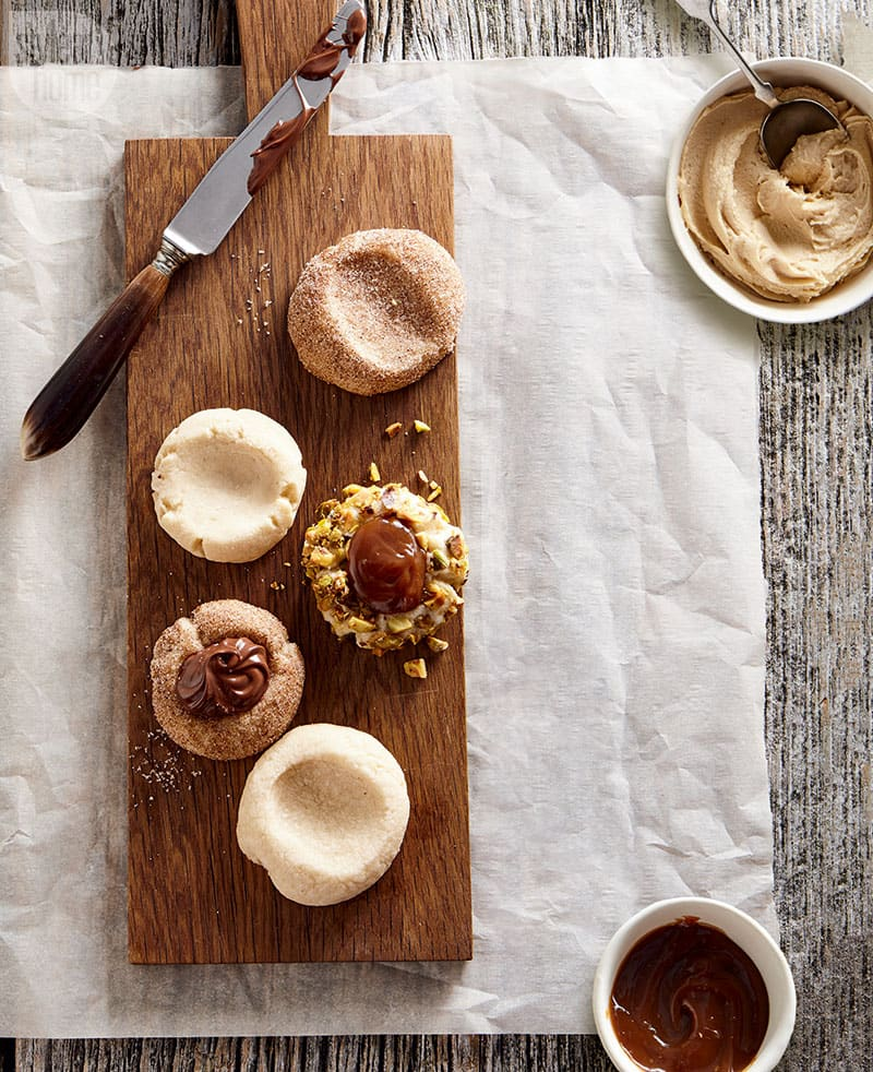Try this decadently delicious spin on the traditional thumbprint cookie.