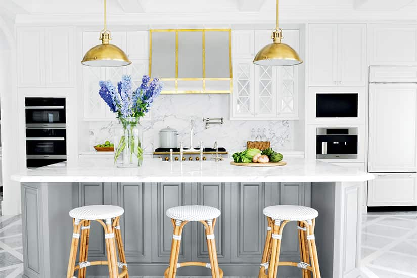 A Glam Bistro Style Kitchen With French Colonial Architecture Style At Home