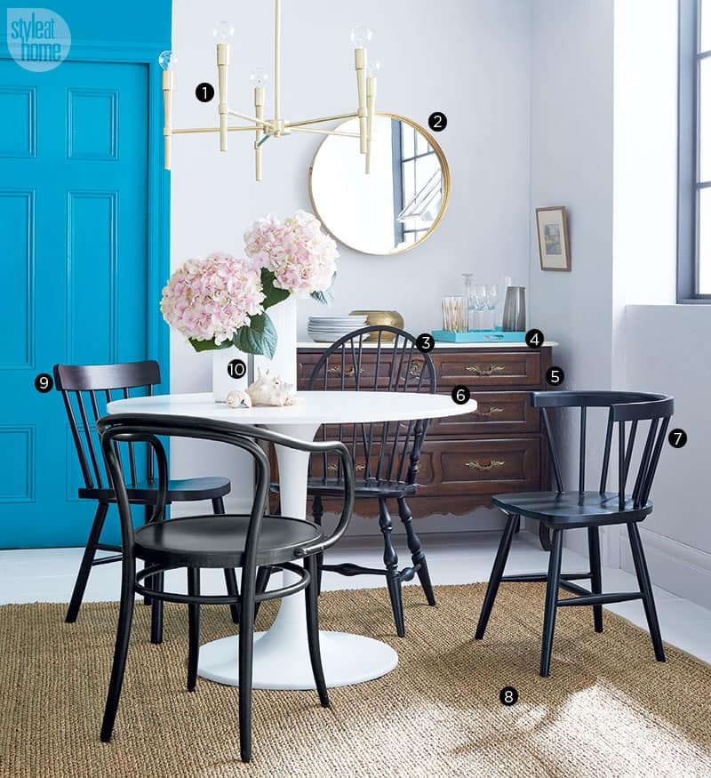 We designed a casual-chic dining area on two different budgets. Can you tell the rooms apart?