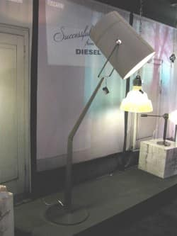 This floor lamp from Diesel for Foscarini is all 21st-century-loft-meets-'50s-beauty-parlor-hairdryer. no?