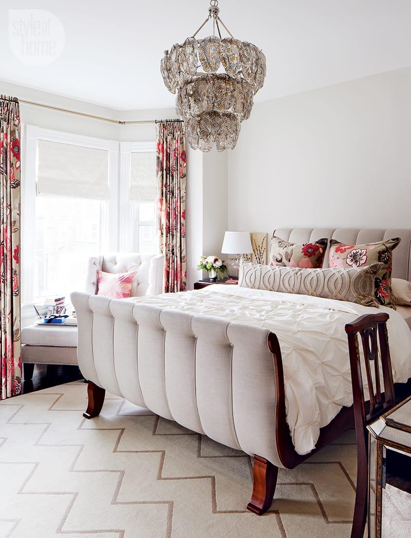 bright and elegant master bedroom
