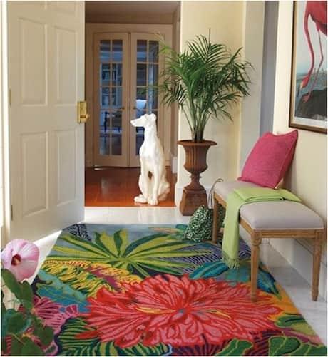 tropical-floral-rug