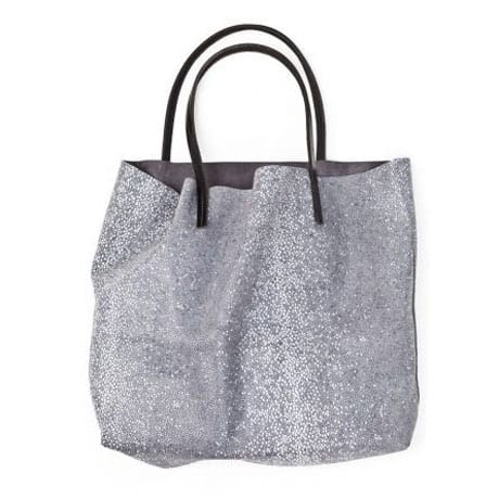 Lover Fighter handmade italian suede Manta Ray Tote in Grey, $360.