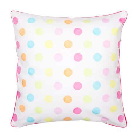coloured polka dot pillow
