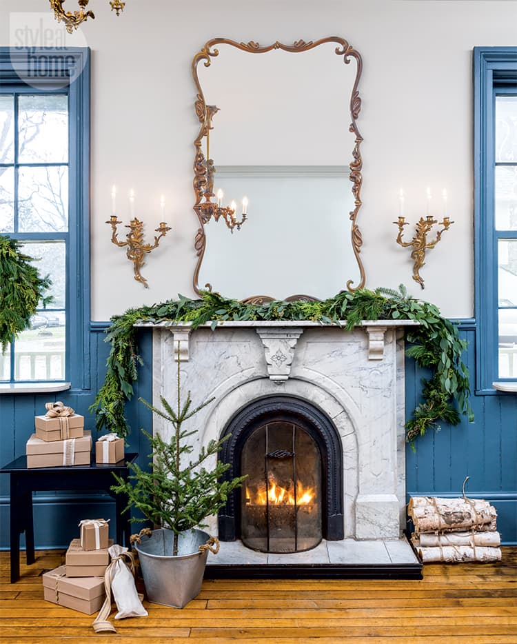 A historic inn with rustic holiday charm.