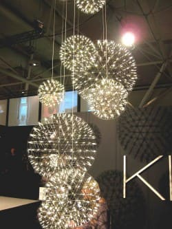 ...And just a few booths away, the Moooi Raimond spheres at the Klaus booth.