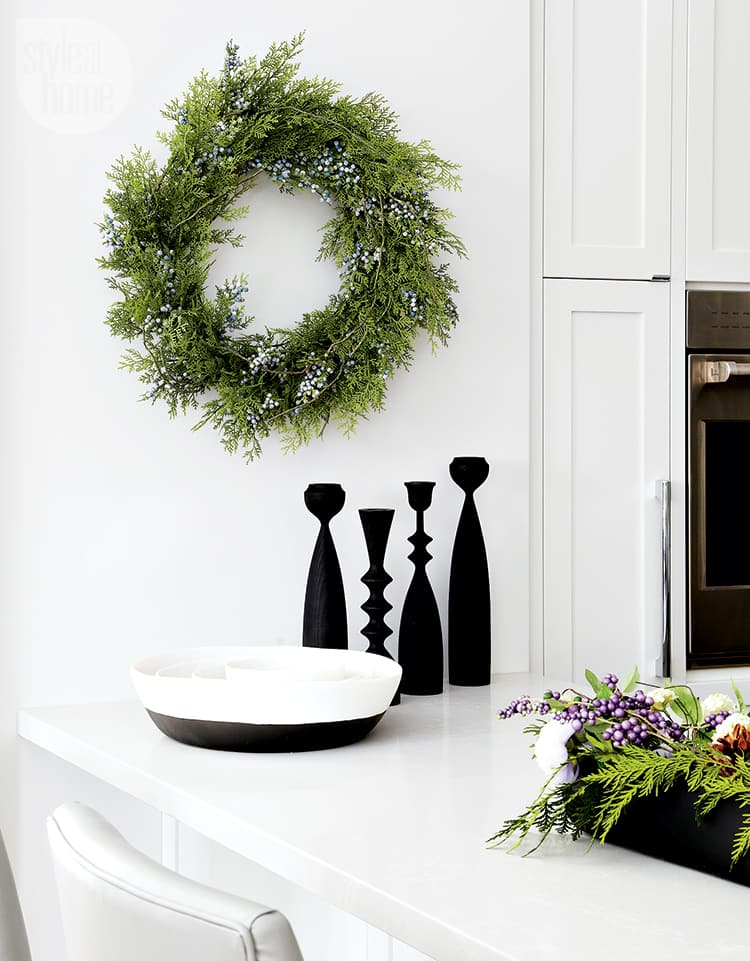 A timeless family home transforms into a whimsical holiday wonderland