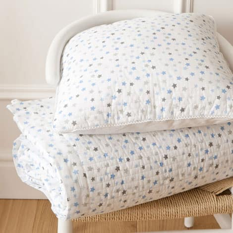 stars quilt and cushion cover
