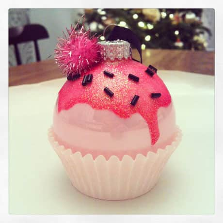 diy cupcake ornament