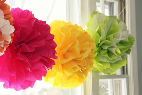 bridal-shower-decor-coloured-pompoms