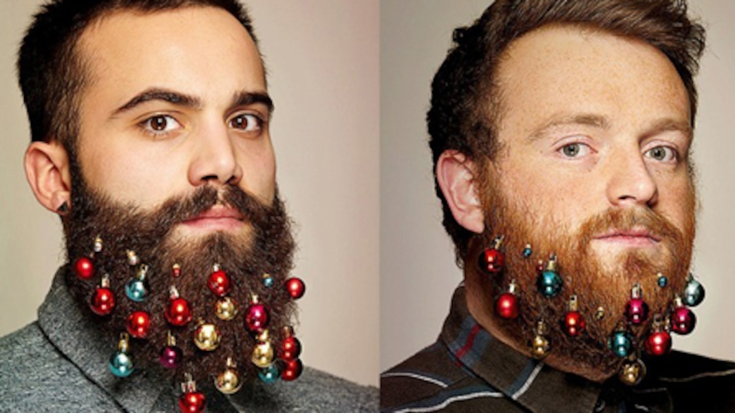 Boules de no l et poils de barbe tva nouvelles - Boule de noel pour barbe ...
