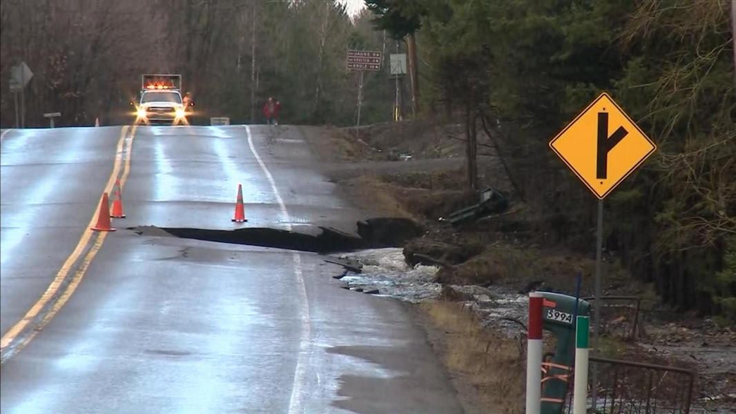 Affaissement: la route 341 fermée à Rawdon | TVA Nouvelles