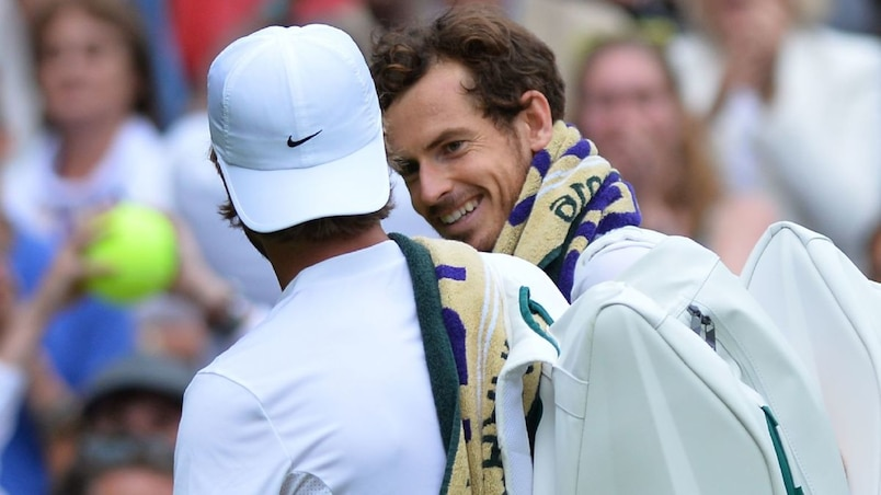 Liam Broady et Andy Murray