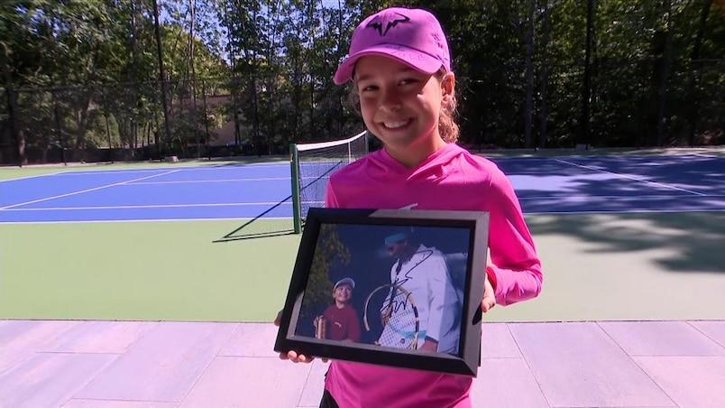 Superbe moment pour une Québécoise de huit ans avec Rafael Nadal