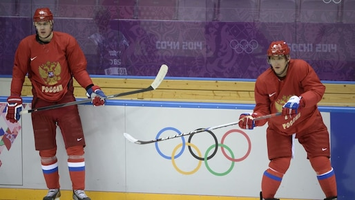 OLY-2014-IHOCKEY-RUS-MEN-TRAINING