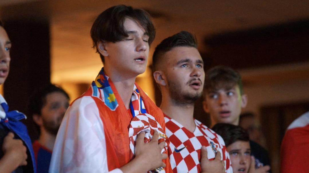 SPO-Ambiance match finale de soccer de la Croatie vs La France
