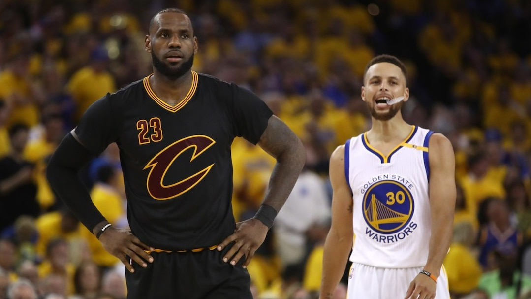 LeBron James et Stephen Curry