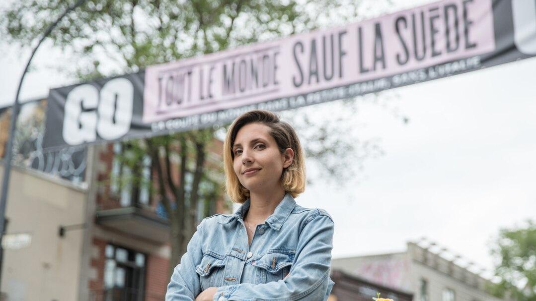 Cristina D'Arienzo, la directrice générale de la Société de développement commercial de la Petite-Italie et du Marché Jean-Talon