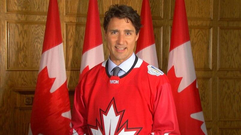 Justin Trudeau encourage Équipe Canada